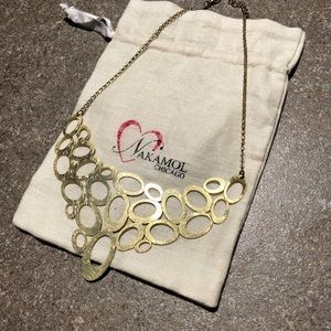 Nakamol Chicago Gold Circles Statement Necklace